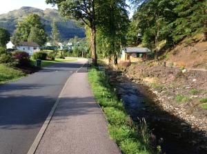 River running through the estate