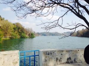 View of the Bhimtal lake